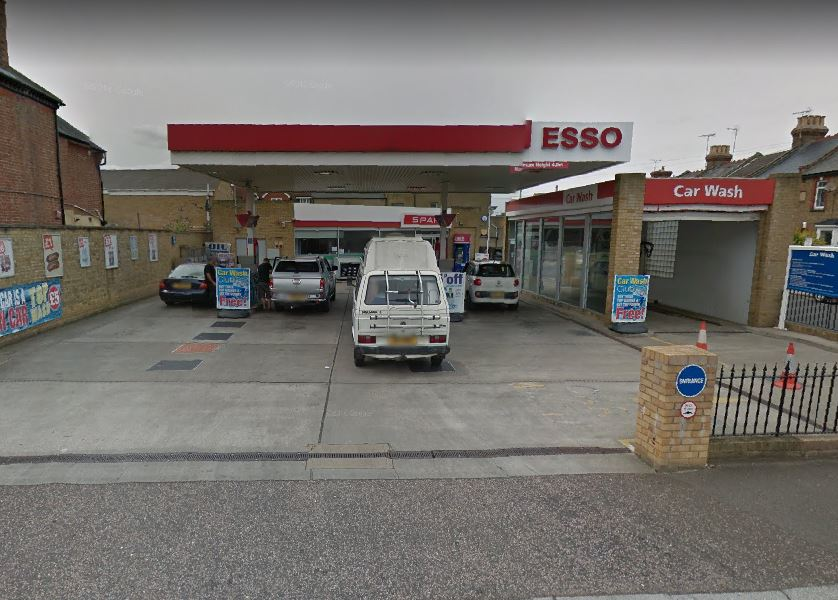 Esso Petrol Station in Kings Road